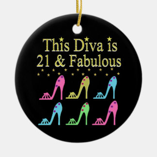 21ST BIRTHDAY SHOE QUEEN DESIGN CHRISTMAS ORNAMENT