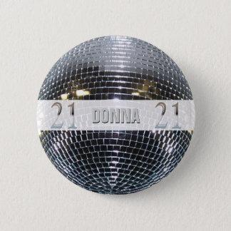 21st Birthday Silver | Number 21 6 Cm Round Badge