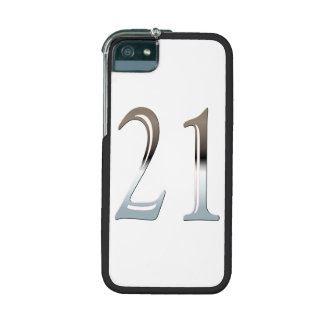 21st Birthday Silver Number 21 Cover For iPhone 5
