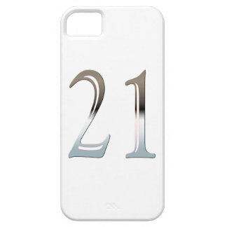 21st Birthday Silver Number 21 iPhone 5 Covers