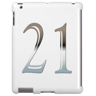 21st Birthday Silver Number 21 iPad Case