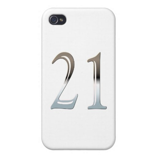 21st Birthday Silver Number 21 iPhone 4 Cover