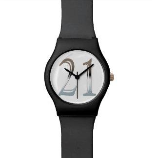 21st Birthday Silver Number 21 Wrist Watches