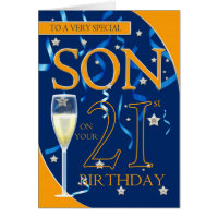 21st Birthday Son Card