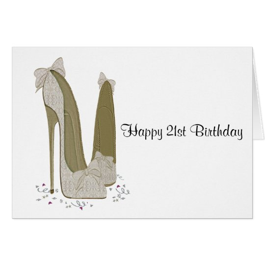21st Birthday Stiletto Shoes Greeting Card