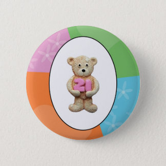 21st Birthday Teddy Bear 6 Cm Round Badge