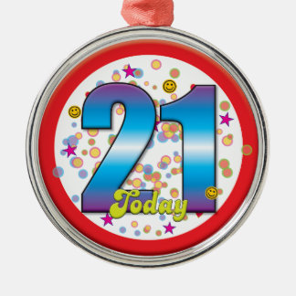 21st Birthday Today v2 Christmas Ornament