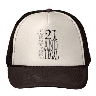 21st Birthday Twenty One & Legal Birthday Cap