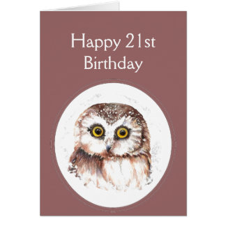 21st Birthday Who Loves You, Cute Owl Humour Greeting Card