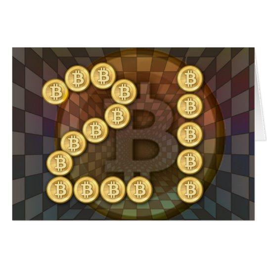 21st birthday with a bitcoin theme card