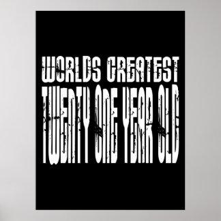 21st Birthday  Worlds Greatest Twenty One Year Old Print