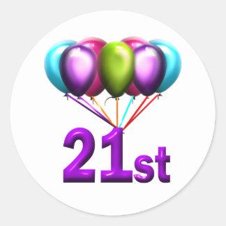 21st classic round sticker