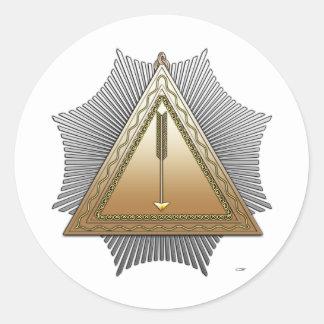 21st Degree: Patriarch Noachite Round Stickers