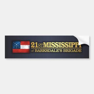 21st Mississippi Infantry (BA2) Car Bumper Sticker