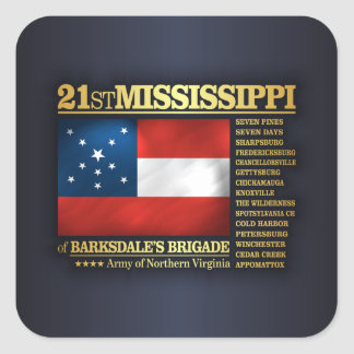 21st Mississippi Infantry (BA2) Square Sticker