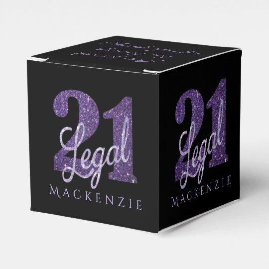 21st Purple | Name 21 Legal Glitter Black