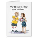 21st Wedding Anniversary Card: Love Greeting Card