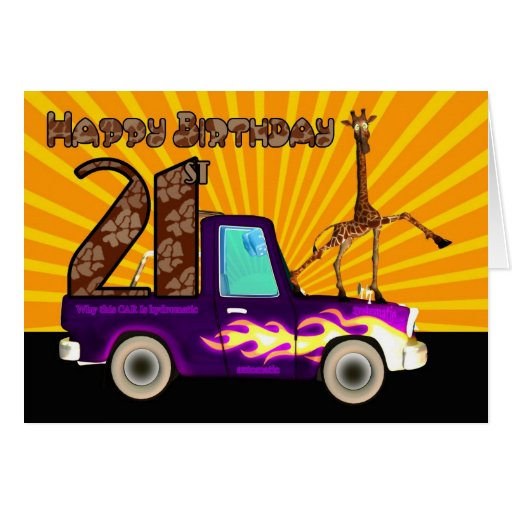 21st, Why this Giraffe is like Grease Lightning, B Greeting Cards