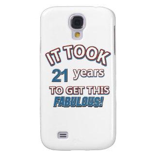 21st year birthday designs galaxy s4 case