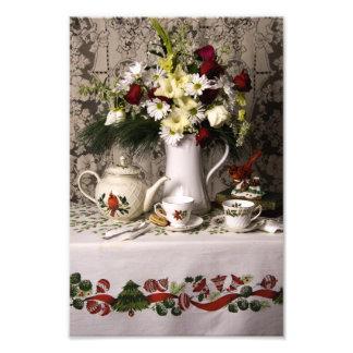 2209 Teatime Floral Still Life Christmas Photo Art