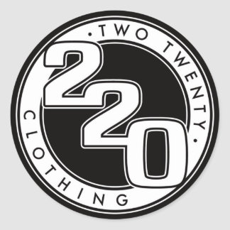 220 Clothing Logo Round Sticker