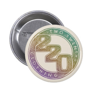 220 Clothing - Sketch Pinback Button