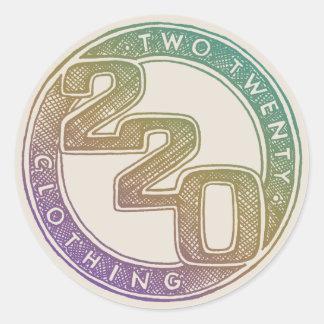 220 Clothing - Sketch Classic Round Sticker