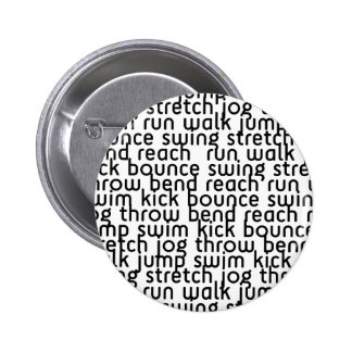 226 ATHLETIC ACTIVE FITNESS EXCERCISE MOVE BOUNCE 6 CM ROUND BADGE