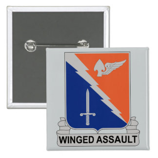 229th Aviation Regiment - Winged Assault 15 Cm Square Badge