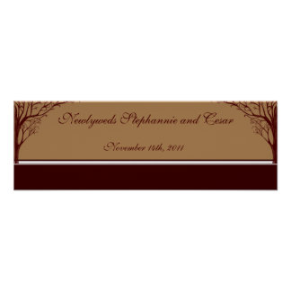 """22.5""""x7.5"""" Personalized Banner Autumn Tree Posters"""