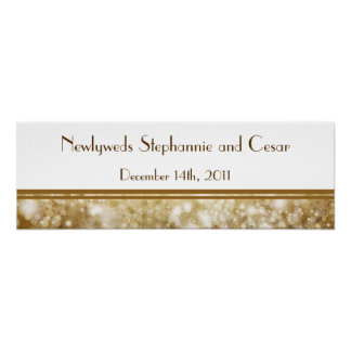 "22.5""x7.5"" Personalized Banner Christmas Copper Posters"
