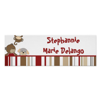 "22.5""x7.5"" Personalized Banner Cocalos Buttons Poster"
