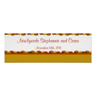 """22.5""""x7.5"""" Personalized Banner Foliage Leaves Posters"""