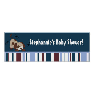 """22.5""""x7.5"""" Personalized Banner Lil League Puppy Poster"""