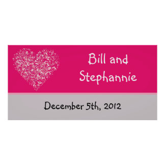 """22.5""""x7.5"""" Personalized Banner Pink Floral Petals Poster"""
