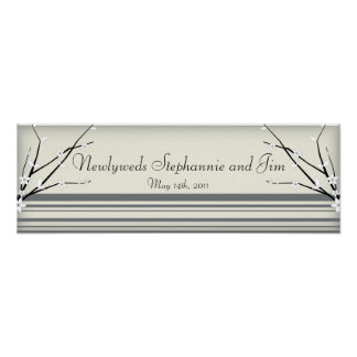 "22.5""x7.5"" Personalized Banner Winter Blossom Posters"