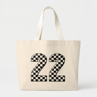22 auto racing number tote bags