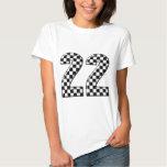 22 auto racing number tee shirt