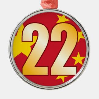 22 CHINA Gold Christmas Ornament