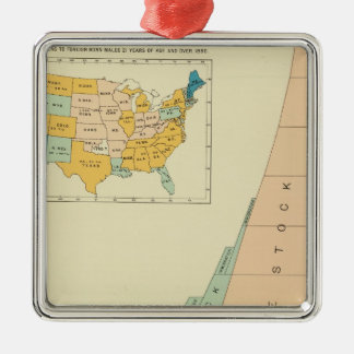 22 Growth elements of population 17901890 Christmas Ornament