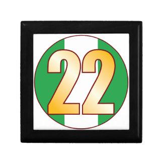 22 NIGERIA Gold Gift Box