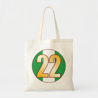 22 NIGERIA Gold Tote Bag