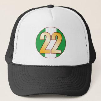 22 NIGERIA Gold Trucker Hat