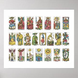 22 Tarot Cards Fortune Teller Poster