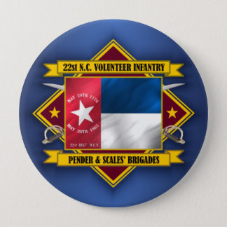 22nd North Carolina Volunteer Infantry 10 Cm Round Badge