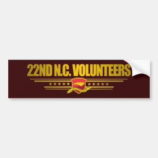 22nd North Carolina Volunteer Infantry Bumper Sticker