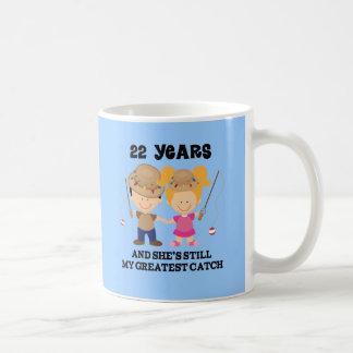 22nd Wedding Anniversary Gift For Him Basic White Mug