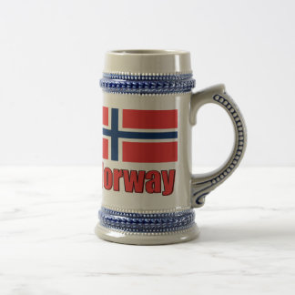 22oz Blue/Grey Stein Norway\Flag