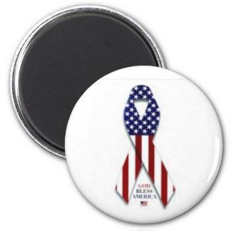 2300-5004_b~U-S-Flag-Ribbon-Posters 6 Cm Round Magnet