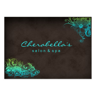 232 Blue Green Trendy Salon Spa Appointment Card Pack Of Chubby Business Cards